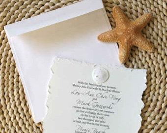Beach Wedding Invitation-Sand Dollar SAMPLE