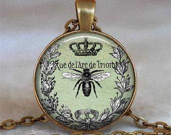 Queen Bee necklace, Queen Bee pendant, Mother's Day gift, Mother's Day jewelry, Mother's Day necklace beekeeper key chain