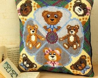 Teddy Bear Treat Mini Cushion Cross Stitch Kit