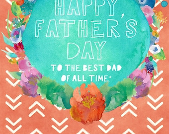 Happy Father's Day to the Best Dad in the World - father's day/birthday funny sarcastic card