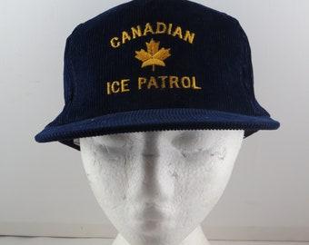 Vintage Corduroy Hat - Canadian Ice Patrol - Adult Sanpback