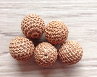 Beads crochet Brown light sold 22 mm x 5