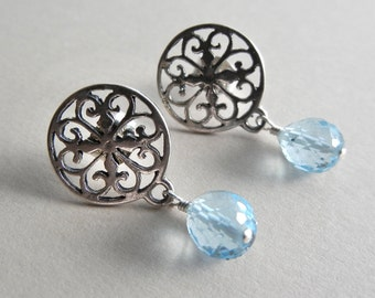 Blue Topaz Yamuna Earrings