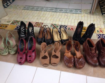 Women's  vintage shoes, size 6, pick one