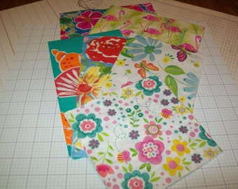 Colorful Paper Napkins for Decoupage / Mixed Media / Collage / Altered Art