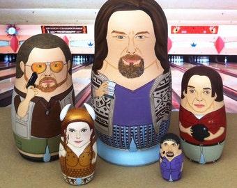 The Big Lebowski Matryoshka Dolls