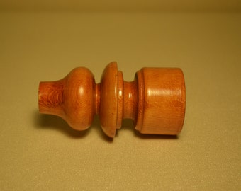 Elegant vintage handmade wooden curtain rod ends/ finials/ pole ends POPPY