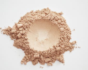 Cupola Yellow Mineral Makeup | Light Skin Tone Natural Foundation, Face Powder, Opalescent, Warm Undertone, Vegan, Cosmetic, Sensitive Skin