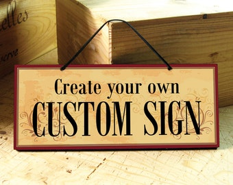 Custom Sign in Yellow, Red & Brown. Business Sign. Restaurant Decor. Custom Wedding Sign. Kitchen Sign. Personalized Gift. Mothers Day Gift