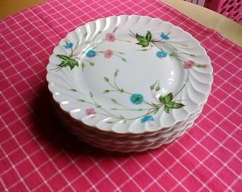 6 Dessert Plates- Vintage French Haviland Limoges plates