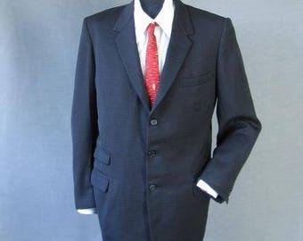 50s Men's Suit Coat Jacket Vintage Rockabilly Red Flecked Sharkskin Medium Large
