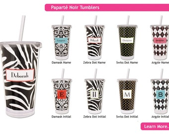Personalized Tall Cups Tumblers Hot and Cold Drinks and Beverages