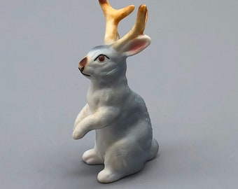 Vintage Bone China Miniature Jackalope