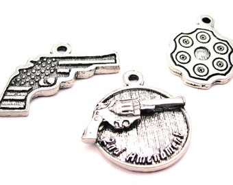 2nd Amendment  collection of charms 3 piece set