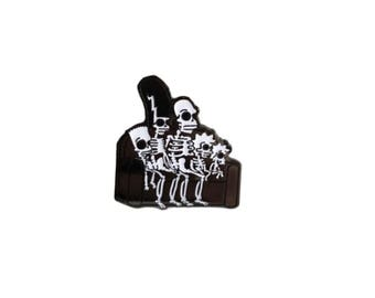 Glow in the Dark MINI Simpsons Skeleton Hard Enamel Pin