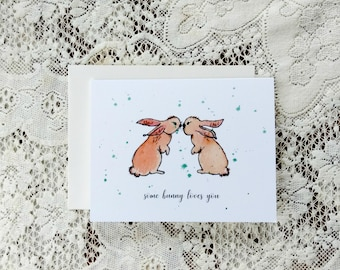 Easter Bunny Card, Gift for Mom, Kids Easter Card, Happy Easter Card, Easter Greetings, Card For Daughter, Card For Granddaughter, For Wife