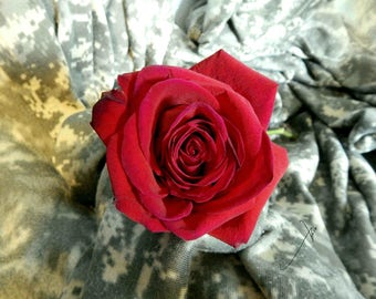 Camouflage Rose Photo Print