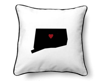 Connecticut Pillow - Connecticut Gift - Connecticut Map - CT State Map