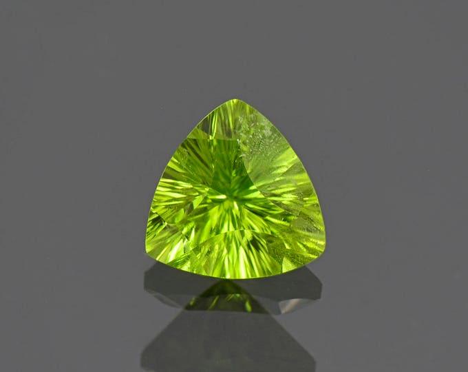 Fine Lime Green Peridot Trillion Gemstone from Pakistan 2.85 cts.