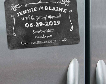 Chalkboard - Magnet - Save the Date + Envelopes