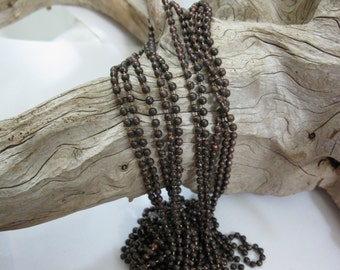 Oxidized COPPER BALL CHAIN, 3.2mm NeW SiZe, 2 Ft to 20 Ft,  Copper Connector with each Foot of Chain, Bulk Chain