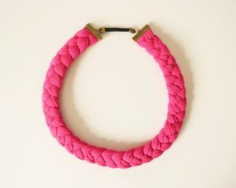 Fuchsia headband braid headband fuchsia headband Bohemian hair, headband, braided, braided headband fuchsia braided hair