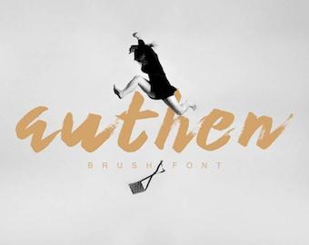 Authen Brush Font Typeface