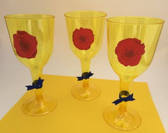 Beauty and the Beast Cups, Beauty and the Beast Party Cups, Beauty and the Beast Theme Tableware
