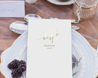 Personalised Gold foil Menu - printed menu