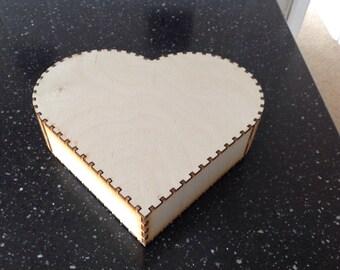 Heart shaped curio box