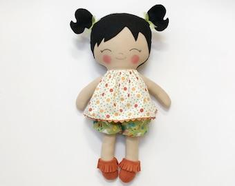 Cloth doll, cloth play doll, toddler doll, fabric doll, doll