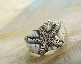 Mother's Day Jewelry, Mother's Day Ring, Mother's Day Starfish Ring, Spring Fashion Starfish Jewelry, Spring Fashion Jewelry Spring Ring