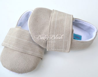 Beige  Baby Boy Soft Soled Baby Shoes - Infant Shoes