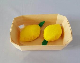 lemon - tea party - felt food - merchant