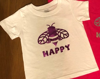Girl's Bee Happy T-Shirt