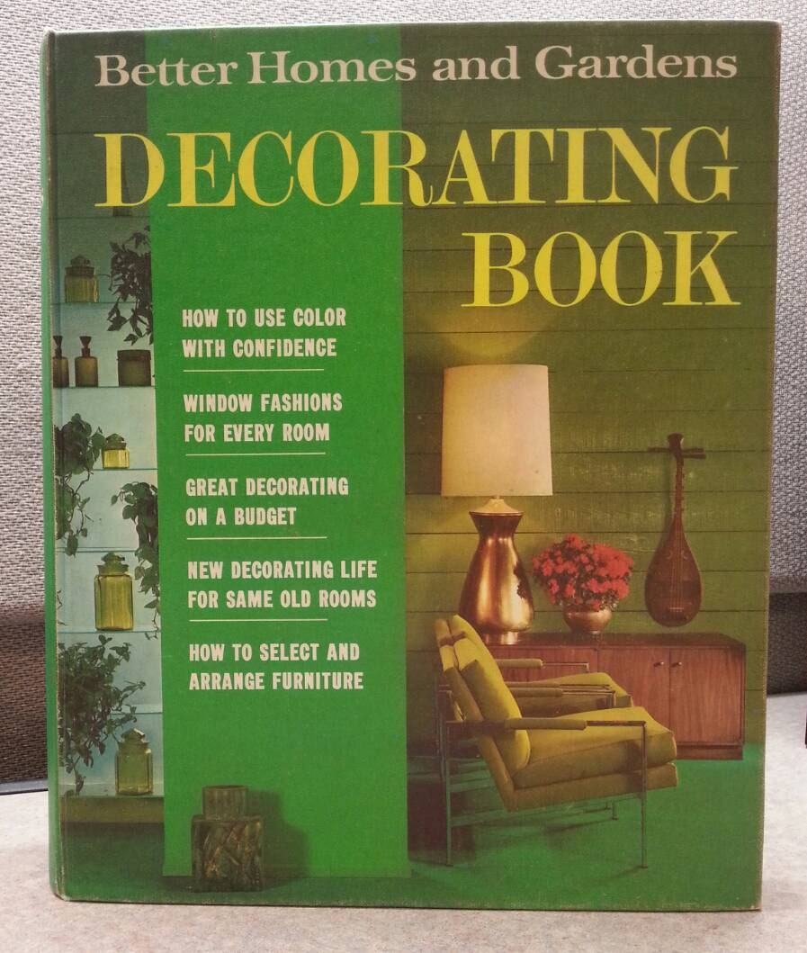 Vintage Better Homes and Gardens MCM Decorating Book 1968 How