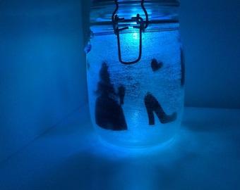 Princess colour changing glitter jar