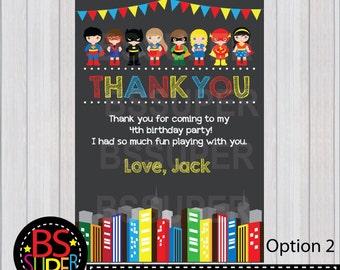 Superhero Birthday Thank You Card