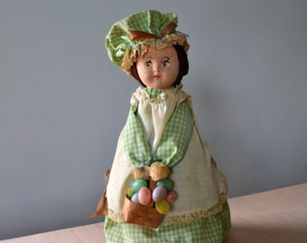 60s Easter Doll Bottle Doll Easter Decor Fair Condition
