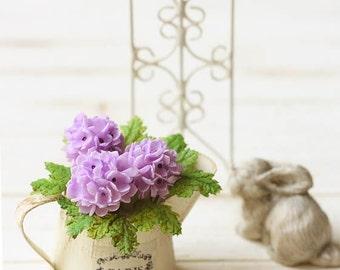 Dollhouse Miniature Flowers- Purple Hydrangeas