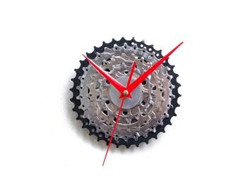 Bicycle Clock - Bike Wall Clock - Unique Wall Clock - Industrial Clock - Steampunk Clock - Unique Wall Clock - Unique Gift - Boyfriend Gift