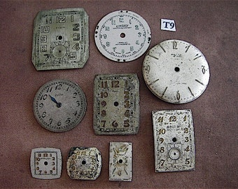 Vintage Antique Watch Faces - Steampunk - Scrapbooking t9