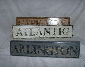 Decorative vintage look City or Landmark sign