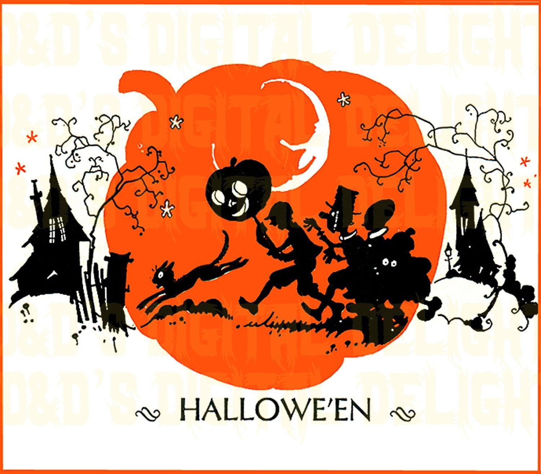 RARE VINTAGE Halloween Digital Download. Kids Trick Or
