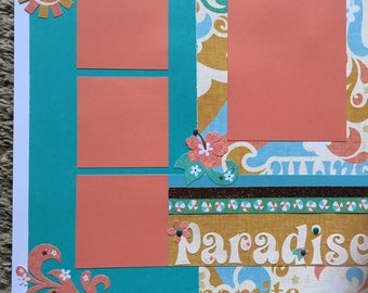 Paradise Found - 12 x 12 Premade Scrapbook Pages