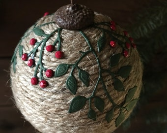 Paper pinecone christmas ornament holiday ornament ristmas