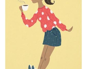 Coffee Break // A4 Print