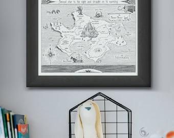 Neverland Nursery Wall Art - Instant Download - Printable Art - Gender Neutral - Nursery Decor - Printable Nursery Art - DIY Print  Baby Art
