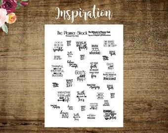 Inspirational Sayings | Printable Planner Stickers | Printable | Inspirational | Printable | Cut File | Script | Typography
