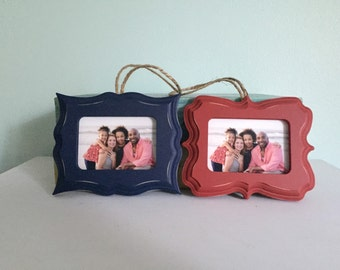 Wallet sized-Wood Ornament Frames, Picture Frame Ornament
